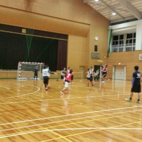 ハンドボール練習試合(2017/1/28)–弥冨中学校 –